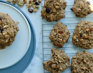 Vegan cookies on tray