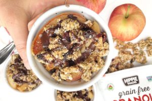 Warm Apple Crumble recipe with Hippie Snacks Granola