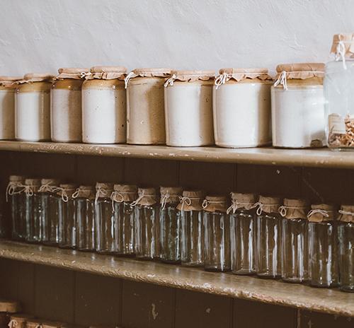sustainable kitchen mason jars